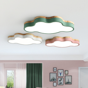 Image 1 - MDWELL Modern Led Ceiling Lights Cloud Shape LED For Bedroom Kids Children Room Luminaire Cute Wooden Ceiling Lamp Fixture