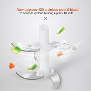 Manual Food Chopper 1000 Ml, Powerful Easy Pull Upgraded Hand Held Vegetable Onion Chopper/Food Processor/Blender,14*12.5*8cm