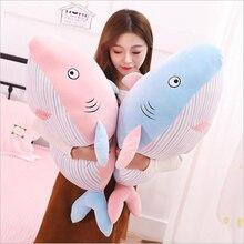 Hot Sale Funny Pink Blue Shark Plush Toys Stuffed Animal Doll Toy Soft Plush Pillow Adults & Kids Birthday Gift цена 2017