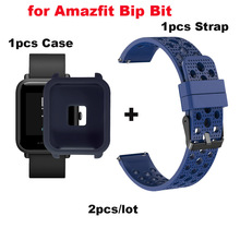 20mm Bracelet Amazfit Bip Lite Strap Silicone Pulsera Correa for Original Xiaomi Huami Band Protective Cases
