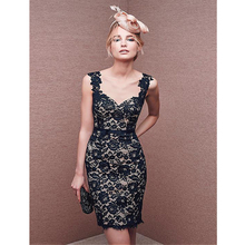 2016 elegante Tüll & Lace Herzförmiger ausschnitt Ärmellos Kurze Cocktailkleider Homecoming Party Abendkleid Vestidos De Coctel