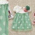 2017 лето новый стиль ребенка с коротким рукавом dress девушки принцесса dress flower children dress