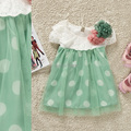 2017 nuevo estilo del verano del bebé de manga corta dress girls princess dress niños de flor dress