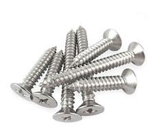 100pcs M1.2x3/4/5/6mm 304 Stainless Metal Steel Countersunk Head Phillips Self Tapping Head Screws