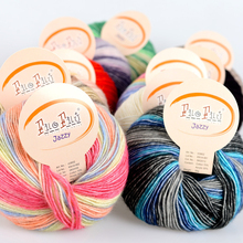 Wholesale 100g/Lot Worsted Soft Baby Wool Cotton Yarn Skeins Hand Knitting Eco-Friendly Dyed Crochet Yarns laine a tricoter garn