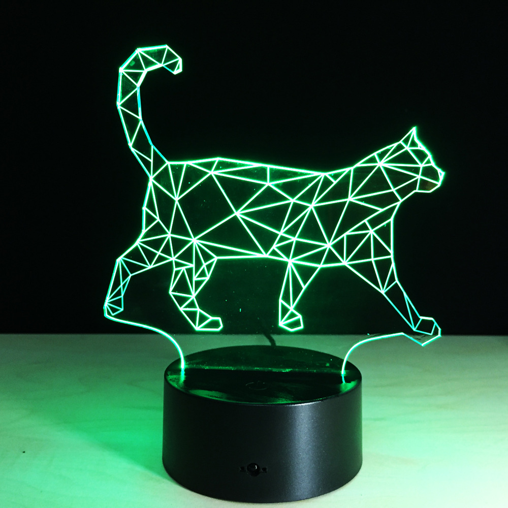Cat Acrylic 3d Light Led Colorful Gradient Table Lamps Luminaria De Mesa 3d  Led Desk Lamp