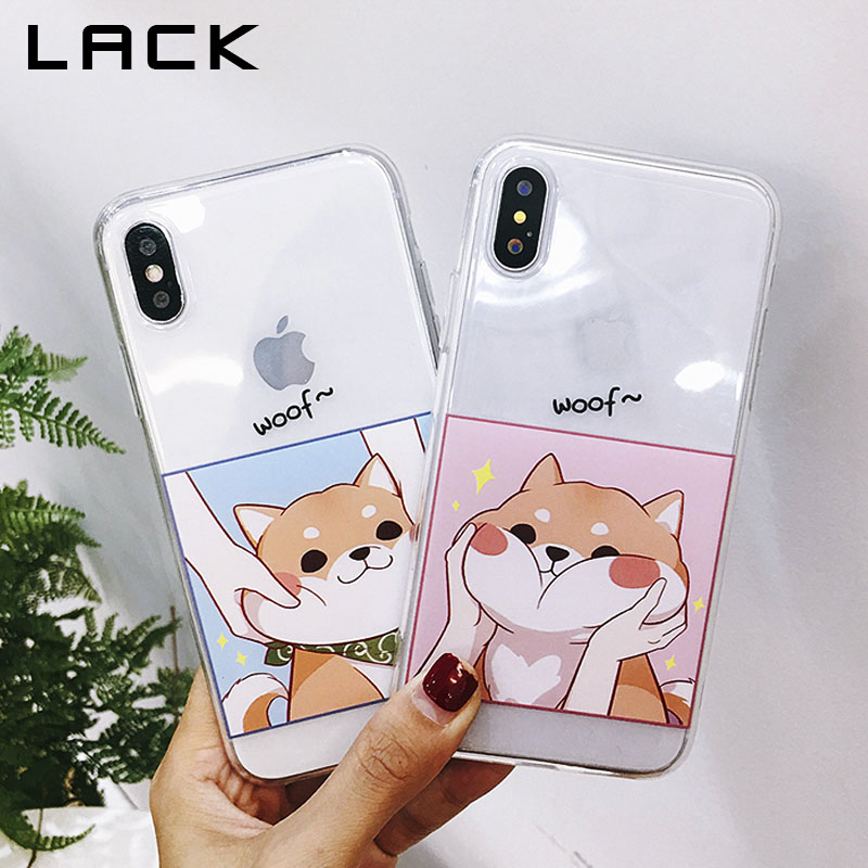 840cae5561 LACK Cartoon Couples Phone Case For iphone X Case For iphone 6S 6 7 8 Plus  Cartoon Dogs Cases Soft TPU Transparent Back Cover