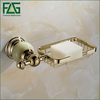FLG Bathroom Accessories Bathroom Soap Holder Zinc Alloy Chrome Soap Box
