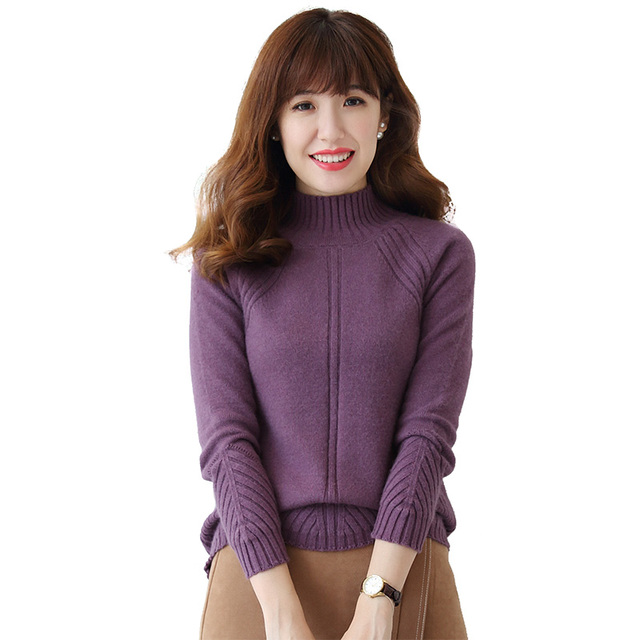 2017 winter warm sweater women 100% pure cashmere sweater high ...