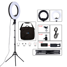 18inch Photography Light 50W 480pcs LED Ring Light Stepless Dimming Ring Lamp Camera Makeup Photo/Studio/Phone With Tripod Stand