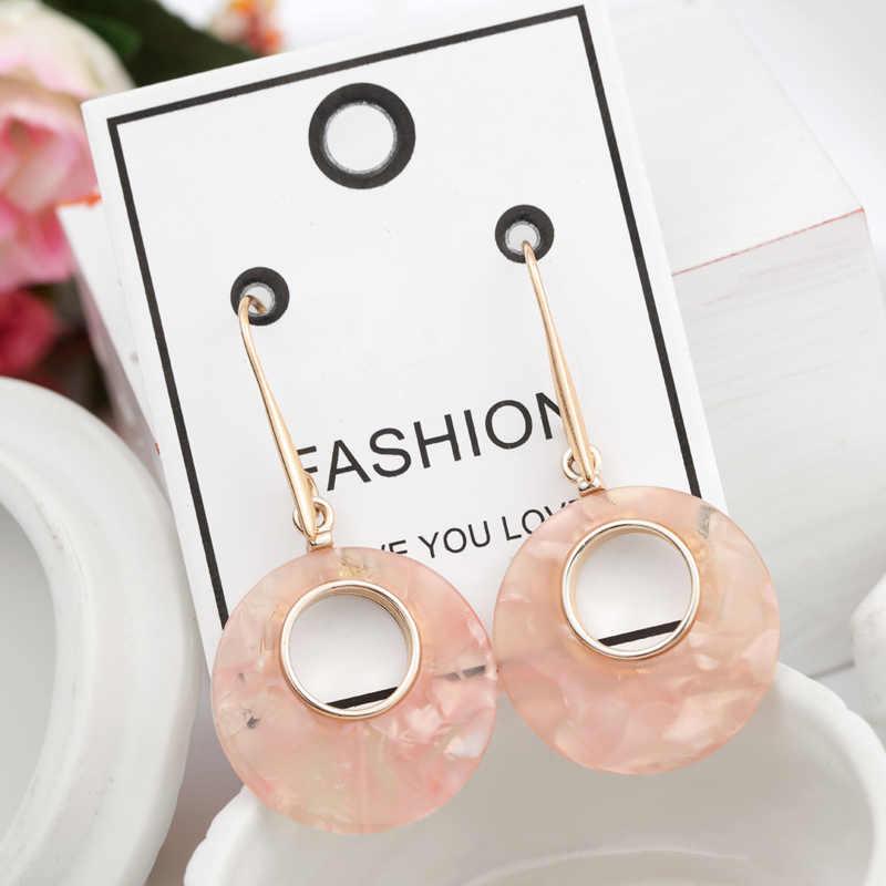 ZOSHI Fashion ZA Multi-Color Acrylic Drop Earrings Women Gold Long Maxi Statement Earrings Wedding Party Summer Jewelry