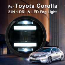For Toyota Corolla led fog lights+LED DRL+turn signal lights Car Styling LED Daytime Running Lights LED fog lamps 2009-2014 цена в Москве и Питере