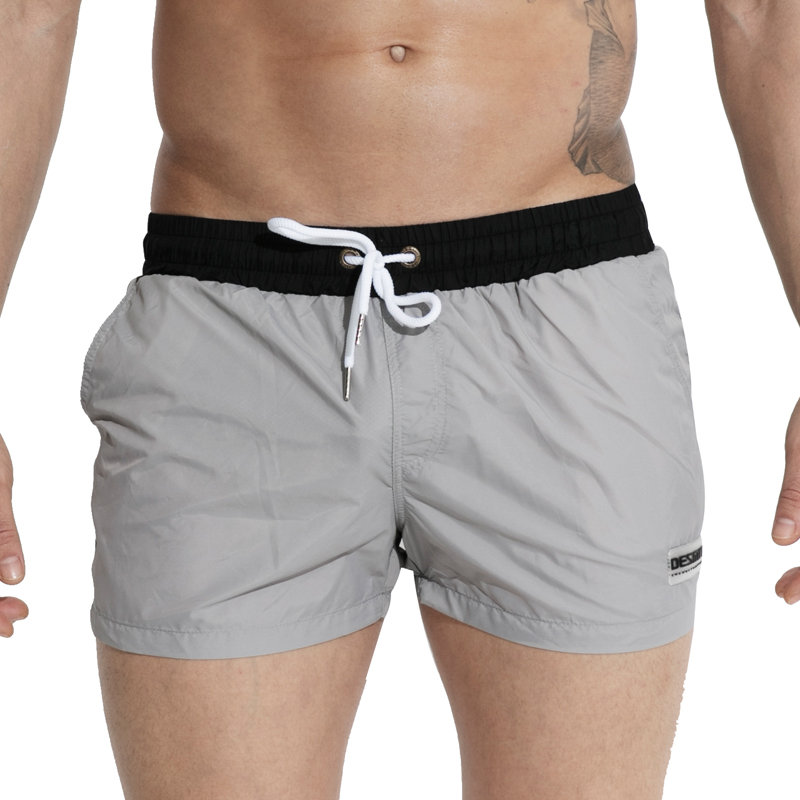 Swimming Shorts for Men Swimwear Men Swim Boxer Swimming Trunks Nylon Light Thin Boardshort Beachwear Plus Size Swimsuit Sunga
