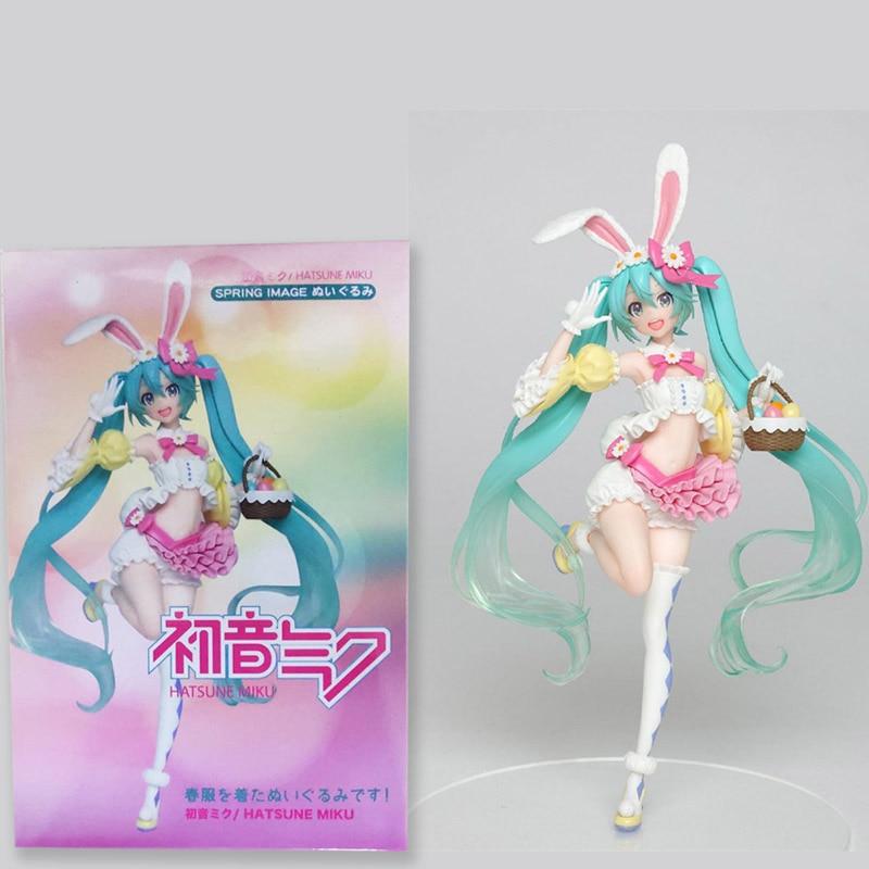 19cm Anime Game VOCALOID 2nd season Spring ver Miku Hatsune Action Figure