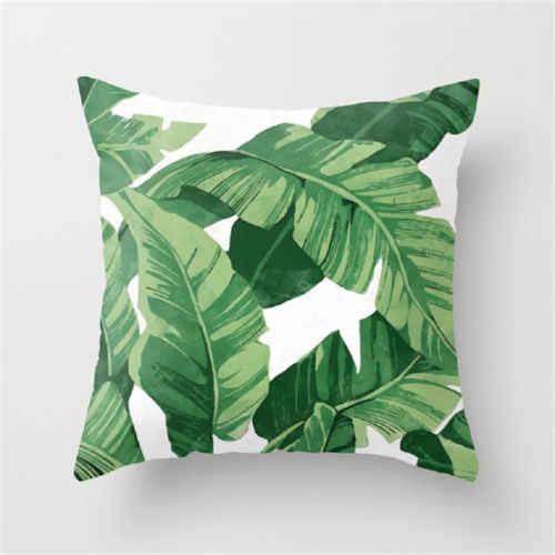 Poliester Case Cusion zielone liście rzuć Sofa poduszka podróżna Home Decor nowość