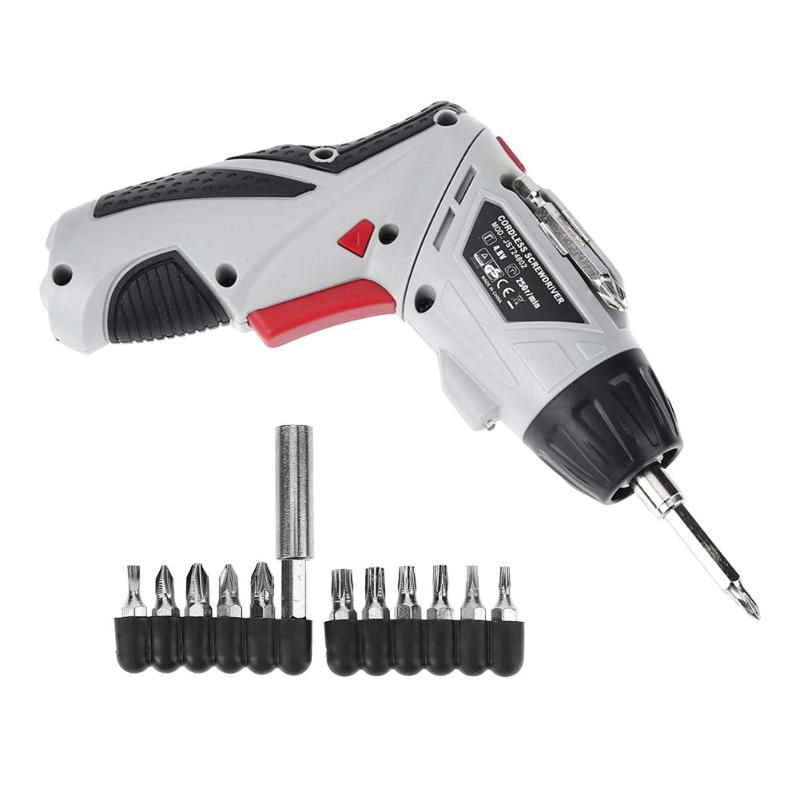 Handheld Electric Screwdriver Set Household Lithium-Ion Rechargeable Drill Gun Tools Multi-function Screwdrivers Power Tool
