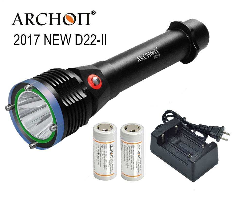 ARCHON D22 II Diving Flashlight D22 II L2 U2 LED 1200 Lumens 100M underwater D22 W28
