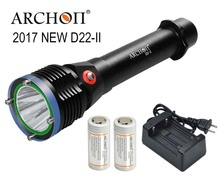 ARCHON D22 II Diving Flashlight D22 II * L2 U2 LED 1200 Lumens 100M underwater D22 /W28 upgraded version 100% Original Lanten