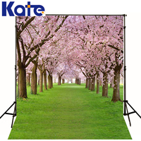 Children Backgrounds Cherry Tree Road Photography Backdrops Newborn Green Lawn Photography Studio Backgrounds