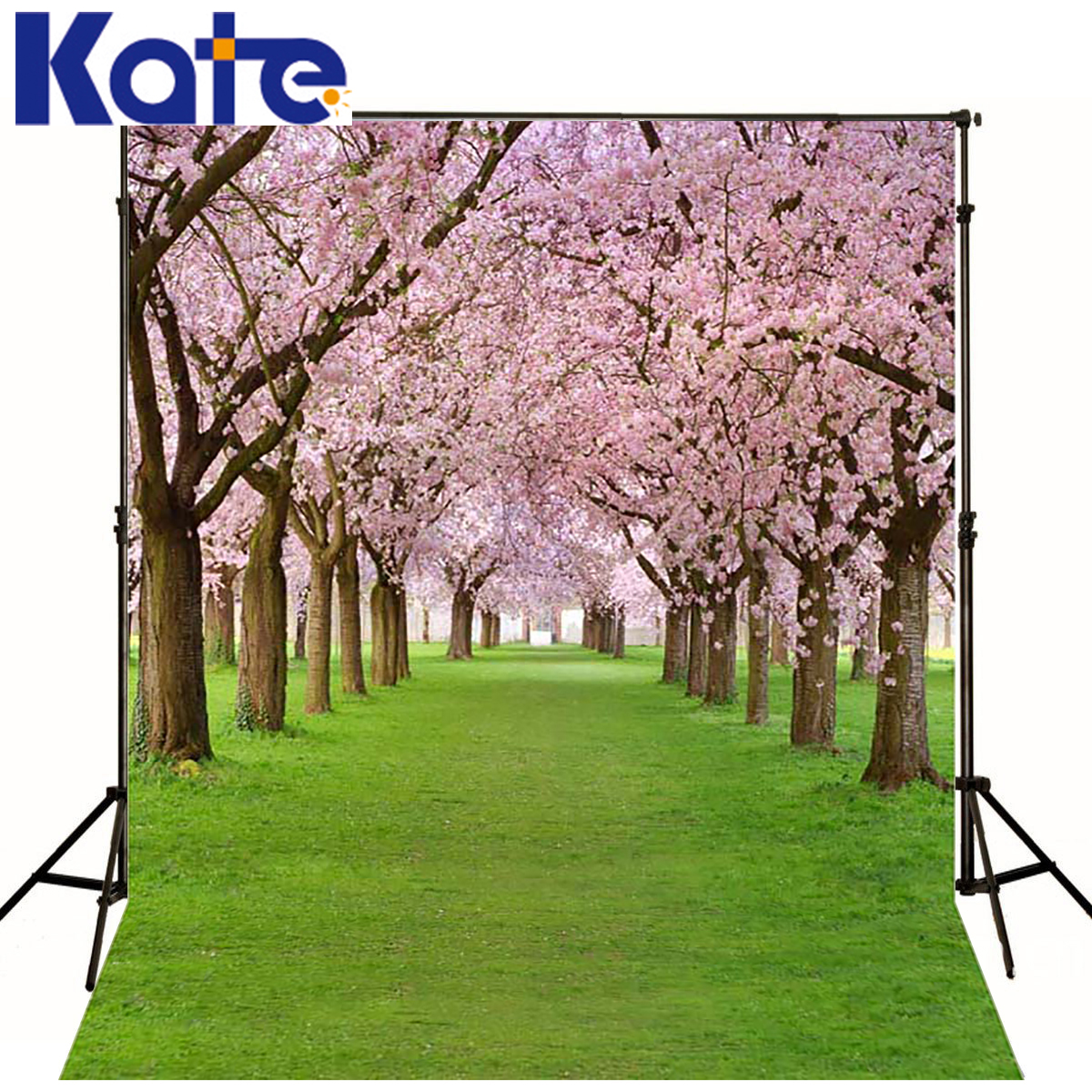 KATE Photography Backdrops Spring Backgrounds Newborn Green Lawn Floral Backdrops Photography Scenery Backdrop for Photo Studio 5ft 7ft photography backdrops spring pink hazy newborn photography background fabric studio backdrops vintage backgrounds