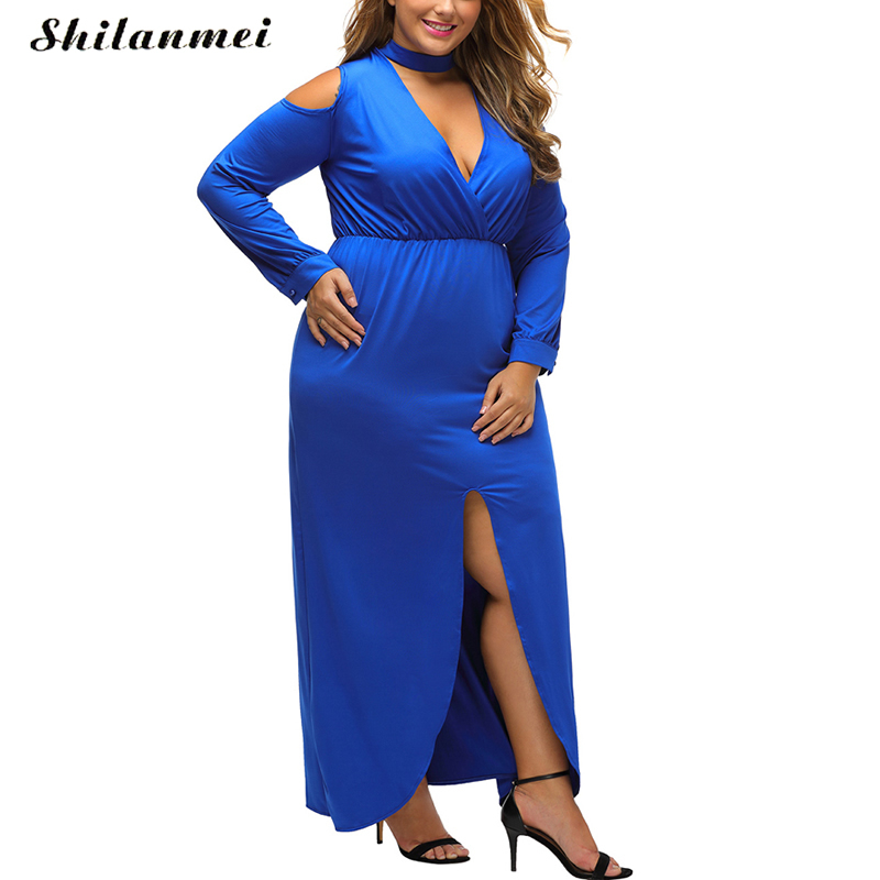 plus size gown oversize dresses women <font><b>sexy</b></font> dress club <font><b>2017</b></font> spring summer long maxi bodycon long sleeve party <font><b>robe</b></font> <font><b>femme</b></font> vestidos image