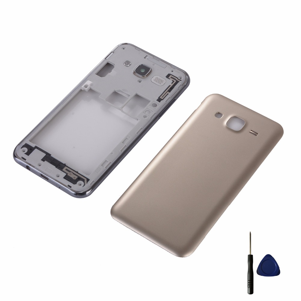For Samsung J7 2015 J700 J700F J700H J700M Housing Middle Frame + Battery Cover Rear Back Door