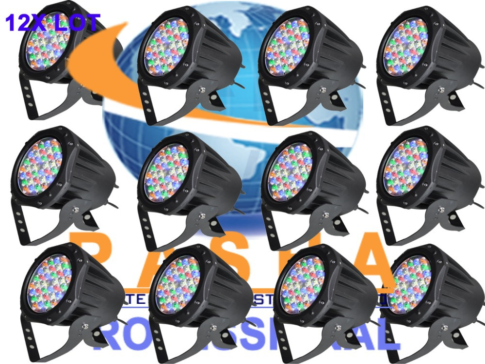 12X LOT Factory Price NEW 36*1W RGB 3in1 Full Color LED Par Light,LED Par64 Light For Event Party Disco Club Night