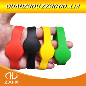 Image 1 - 13.56Mhz MF1108 (S50 Compatible) ISO14443A RFID Waterproof Smart Silicone Wristband Bracelet