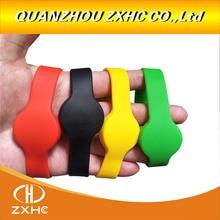 Bracelet connecté en Silicone, 13.56Mhz, MF1108 (Compatible S50) ISO14443A, étanche RFID, RFID