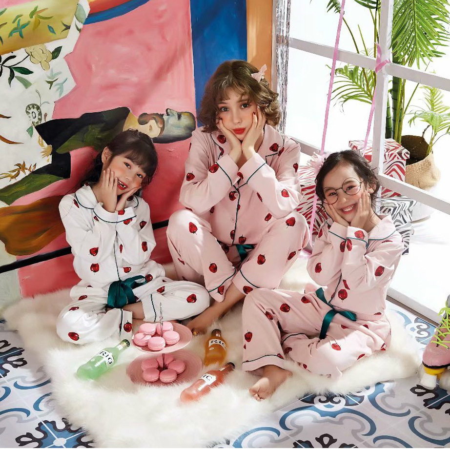 JRMISSLI Family Matching Outfits Family Matching Print Pajamas Set Women Baby Kids Girl Sleepwear Nightwear Matching Outfits