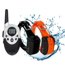 Waterproof Pet Dog Trainer Collar Remote Rechargeable Dog Bark Control Training Collar Device with Vibration Electric Shock Beep