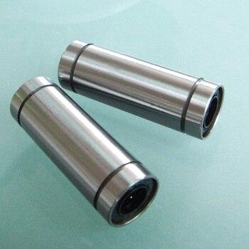 100 unids/lote LM12LUU rodamientos lineales más largos que combinan con eje lineal de 12mm para cnc 12x21x57mm