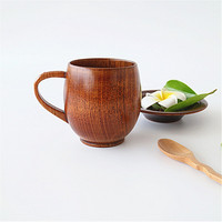 Wooden Cup Big Belly Beer Cup Wooden Beer cup Carved ClassicBig Eco friendly 250ml Classical Wooden Beer Tea