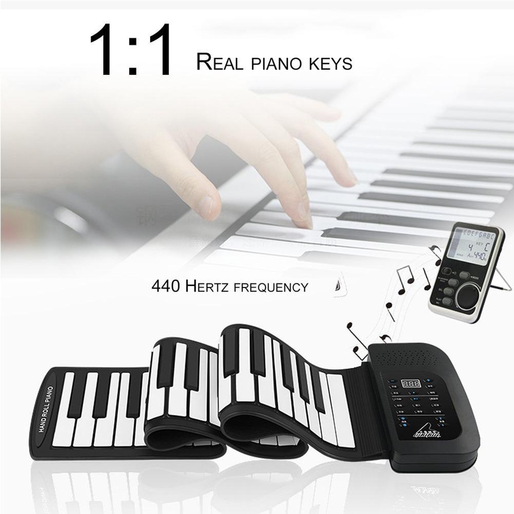 Portable 61 Clé Électronique Roll Up Piano Flexible De Silicium Exercice Pratique Outil de Formation Professionnel Instrument de musique