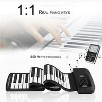 Portable 61 Key Electronic Roll Up Piano Flexible Silicon Practice Exercise Training Tool Professional Musical Instrument