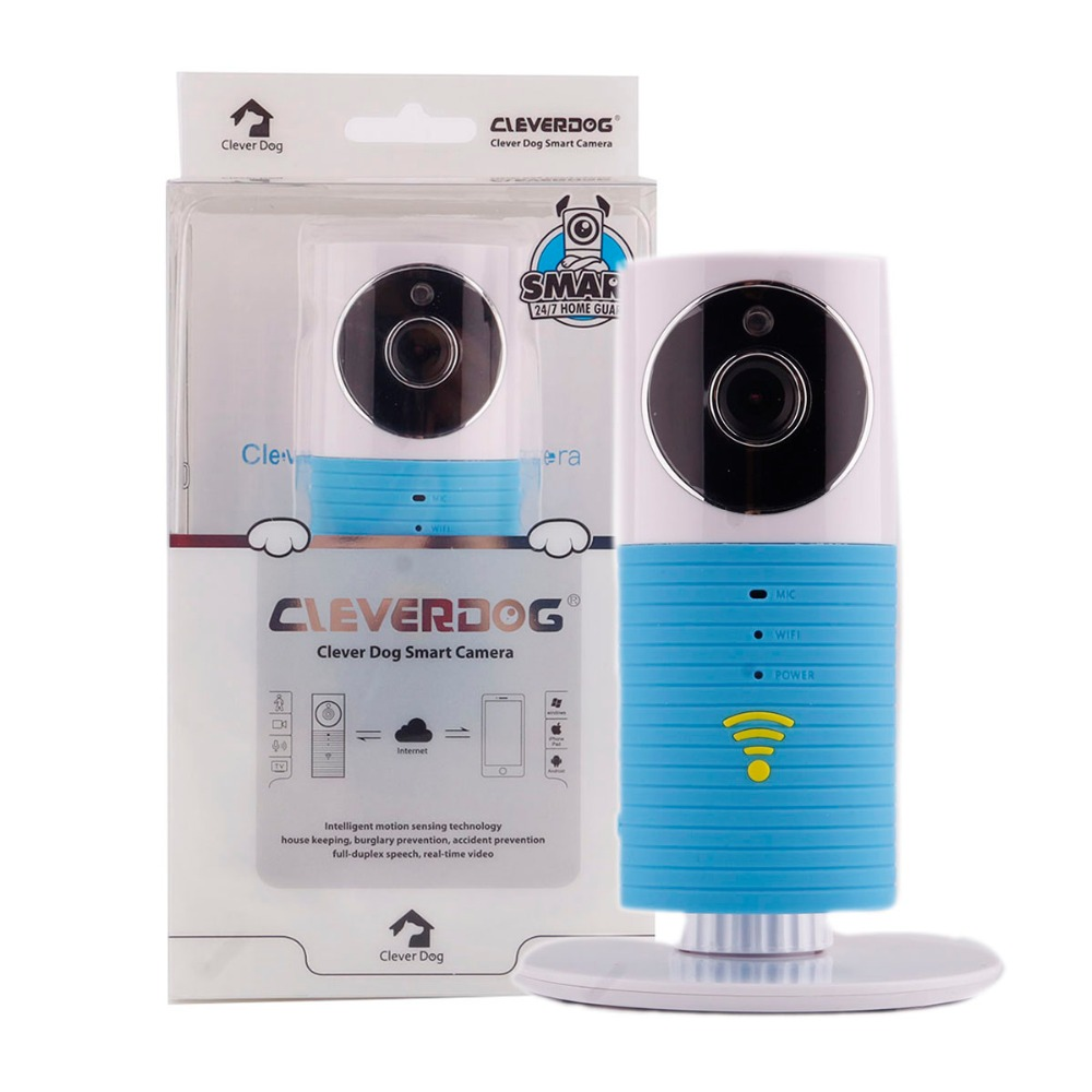 Neue Kluger Hund 720 p HD Wifi Home Security IP Kamera Baby Monitor Intercom Smart Telefon Audio Nachtsicht kamera alarm erkennung