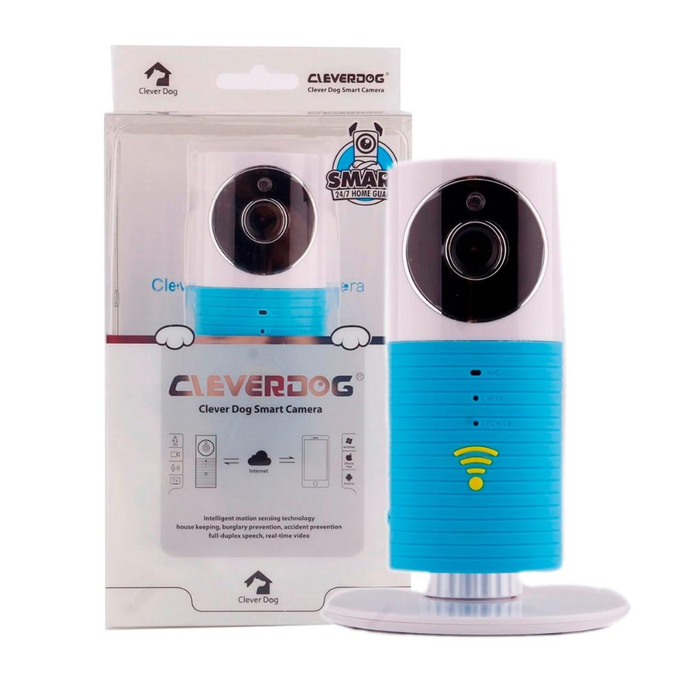 все цены на New Clever Dog 720P HD Wifi Home Security IP Camera Baby Monitor Intercom Smart Phone Audio Night Vision camera alarm detection онлайн