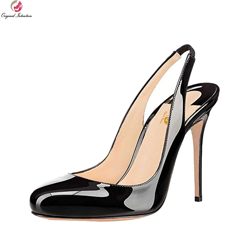 Original Intention Nice Stylish Women Pumps Round Toe Thin High Heels Pumps Black Red Nude Leopard Shoes Woman Plus US Size 4-15 pumps page 4