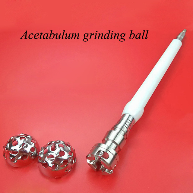 Ortopedia instrumento acetábulo molienda rótula acetabular lijadora cabeza de pulido de pulido convexa pelvis para ortopedistas