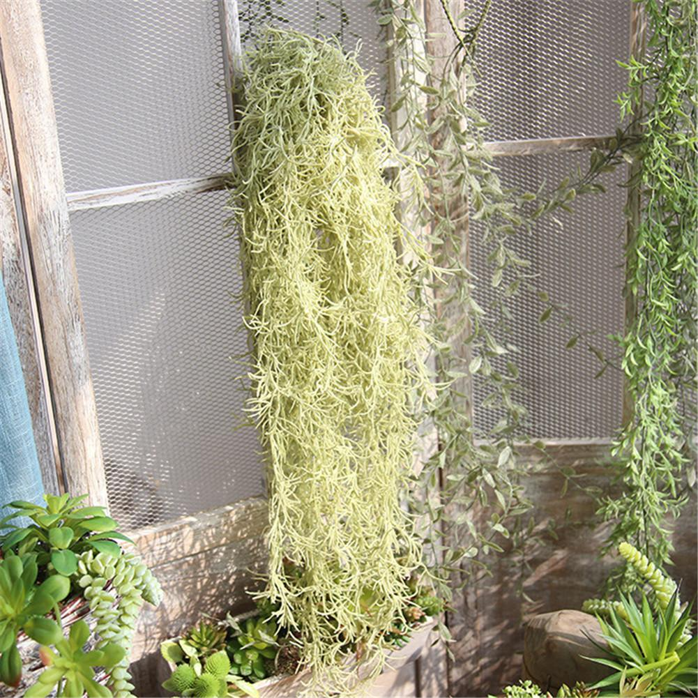1pc Wall Hanging Artificial Plants Airy Long Hanging Vines ...