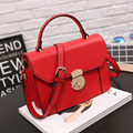 New 2016 Casual Women Shoulder Bag PU  Leather Fashion Medium  Handbags  High Quality Luxury Women Bags