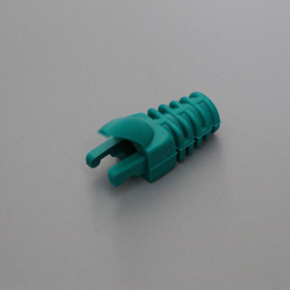 bilder für 50 Stück Grüne Farbe Stiefel für Cat 5e, katze 6 Netzwerkkabel, RJ 45 Stecker Boot Finger Typ