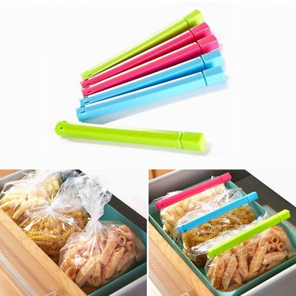Новый 6 шт./лот стабильный Еда снэк-bag клип свежие уплотнения Зажимы печать зажим sealer сильные Кухня помощником для хранения Еда заставки