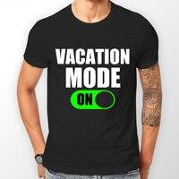 休暇モード上面白いtシャツ陸軍お父さん誕生日ギフトアイデア用男