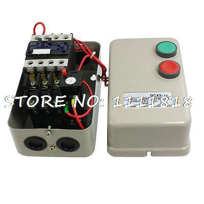 AC 220V Coil 7.5KW 10HP Three 3 Phase Magnetic Starter Contactor 14-22A chint electromagnetism starter magnetic force starter qc36 10t motor starter phase protect magnetic force switch