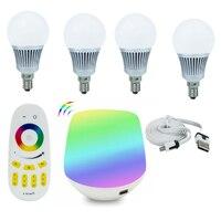 Tanbaby 4pcs Mi Light 5W E14 RGBWW RGBW LED Bulbs 4 Zone 2 4G RF Remote