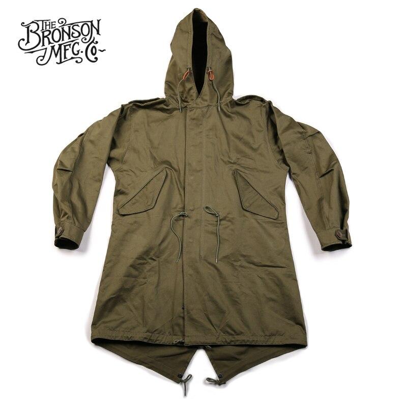 Bronson Repro US Army Fishtail M-51 Parka Shell 1st Vintage Mens Military Uniform Jacket