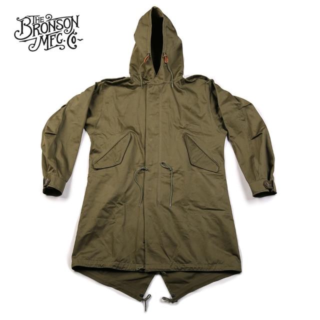 Bronson Repro US Army Fishtail M-51 Parka Shell 1st Vintage Mens Military  Uniform Jacket e1eb475b4c6