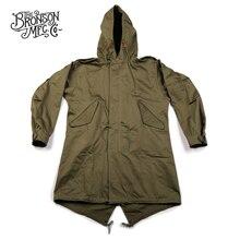 Bronson repro eua exército fishtail M 51 parka escudo 1st jaqueta uniforme militar dos homens do vintage