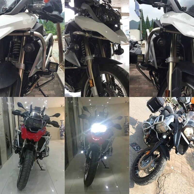 FADUIES moto LED antibrouillard & protection gardes avec faisceau de câblage pour BMW R1200 GS/ADV moto LED lumières blanc 6000 k - 6